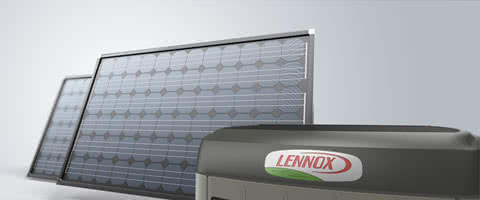 solar panels with unit